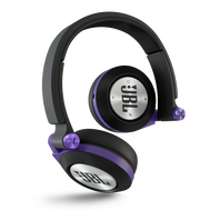 Synchros E40BT - Purple - On-ear, Bluetooth headphones with ShareMe music sharing - Hero