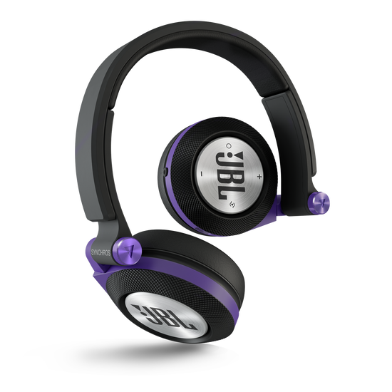 Synchros E40BT - Purple - On-ear, Bluetooth headphones with ShareMe music sharing - Hero