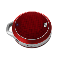 JBL Micro Wireless - Red - Mini Portable Bluetooth Speaker - Hero