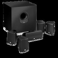 SCS 145.5 - Black - Complete 6-Piece System - Hero