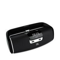 JBL OnBeat Hotel - Black - Wireless loudspeaker dock that transforms your iPad - Hero