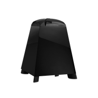 """SUB140P - Black - Downward-firing, 8"""" (200mm) subwoofer with built-in 150W amplifier - Hero"""
