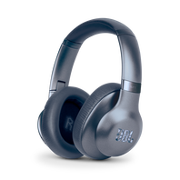 JBL EVEREST™ ELITE 750NC - Blue - Wireless Over-Ear Adaptive Noise Cancelling headphones - Hero