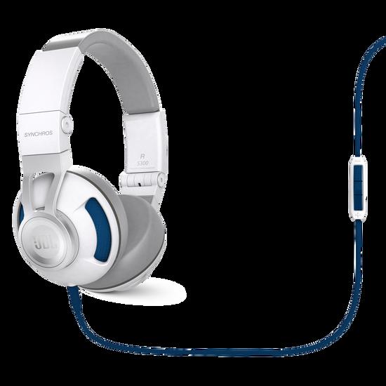 Synchros S300i - White / Blue - Synchros on-ear stereo headphones - Hero