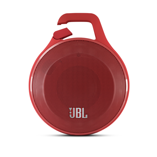 JBL Clip - Red - Ultra portable rechargeable Bluetooth speaker with carabiner - Hero