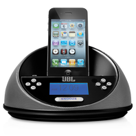 JBL ON TIME MICRO - Black - Loudspeaker dock and clock radio - Hero