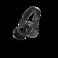 UA Sport Wireless Train – Engineered by JBL - Black - Wireless on-ear headphone built for the gym - Hero