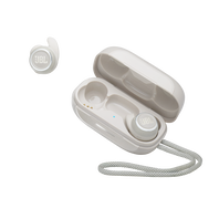 JBL Reflect Mini NC - White - Waterproof True Wireless In-Ear NC Sport Headphones - Hero