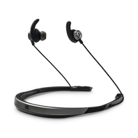 UA Sport Wireless Flex – Engineered by JBL - Grey - Wireless neckband headphones with all-day comfort and secure fit and safety for sport - Hero
