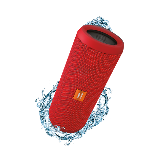 JBL Flip 3 - Red - Splashproof portable Bluetooth speaker with powerful sound and speakerphone technology - Hero