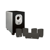 SCS 140 - Black - 5.1-channel speaker system with 100-watt powered subwoofer - Hero