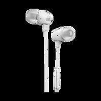 JBL C50HI - White - In-Ear Headphones - Hero