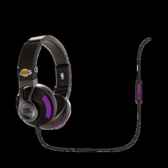 Synchros S300 NBA Edition - Lakers - Purple - Stylish Synchros on-ear stereo headphone - Hero