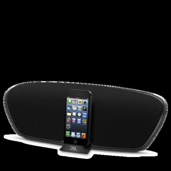 JBL OnBeat Venue Lightning - Black - Wireless iPhone 4 and iPad speaker dock - Hero