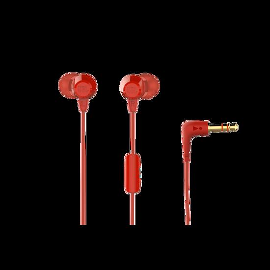 JBL C50HI - Red - In-Ear Headphones - Hero
