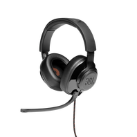 JBL Quantum 300 - Black - Hybrid wired over-ear gaming headset with flip-up mic - Hero