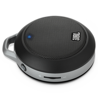 JBL Micro II - Black - Ultra-portable speaker with built-in bass port - Hero