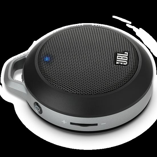 JBL Micro II - Black - Ultra-portable speaker with built-in bass port - Hero