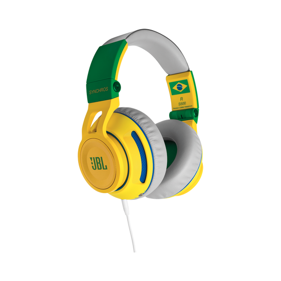 Synchros S500 Limited Edition - Green - Powered Over-Ear Headphones with LiveStage - Hero