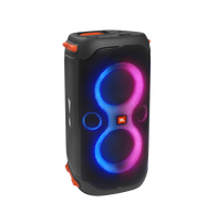 JBL Partybox 110 - Black - Portable party speaker with 160W powerful sound, built-in lights and splashproof design. - Hero
