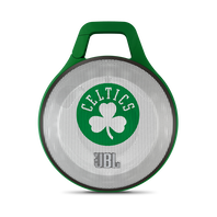 JBL Clip NBA Edition - Celtics - Green - Ultra-portable Bluetooth speaker with integrated carabiner - Hero