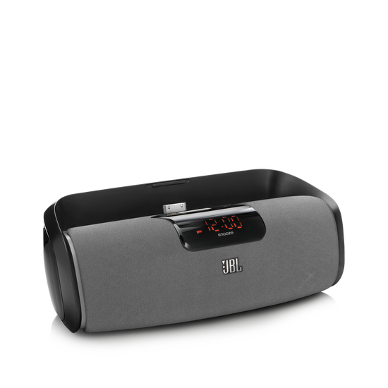 JBL OnBeat Rize - Black - A stylish JBL loudspeaker dock that turns your iPad into a soothing alarm clock and bedside concierge - Hero