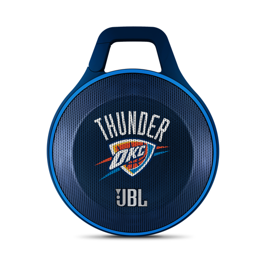 JBL Clip NBA Edition - Thunder - Blue - Ultra-portable Bluetooth speaker with integrated carabiner - Hero
