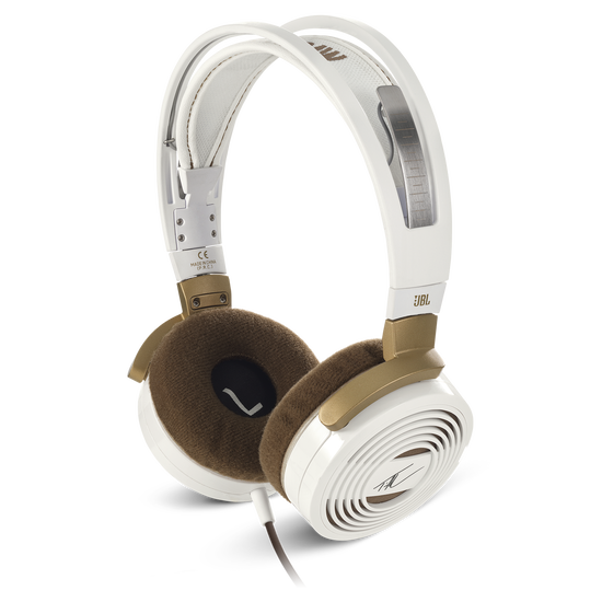 Tim McGraw On Ear Headphones - Gold/White - High-performance On-Ear Headphones designed by Tim McGraw - Hero