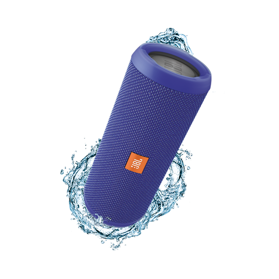 JBL Flip 3 - Blue - Splashproof portable Bluetooth speaker with powerful sound and speakerphone technology - Hero