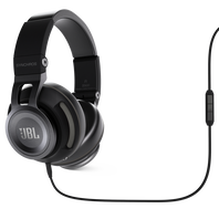 Synchros S500 - Black - Powered Over-Ear Headphones with LiveStage - Hero