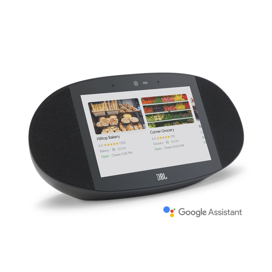 JBL LINK VIEW - Black - JBL legendary sound in a Smart Display with the Google Assistant. - Hero