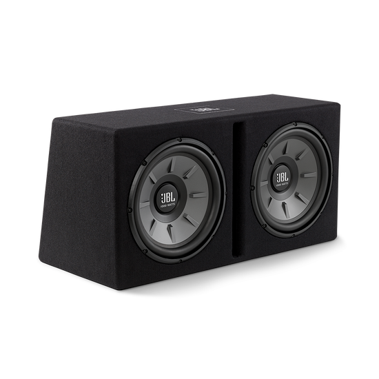 """Stage 1220B subwoofer enclosure - Black - Dual 12"""" Stage subwoofers mounted in a slot-ported enclosure - Hero"""