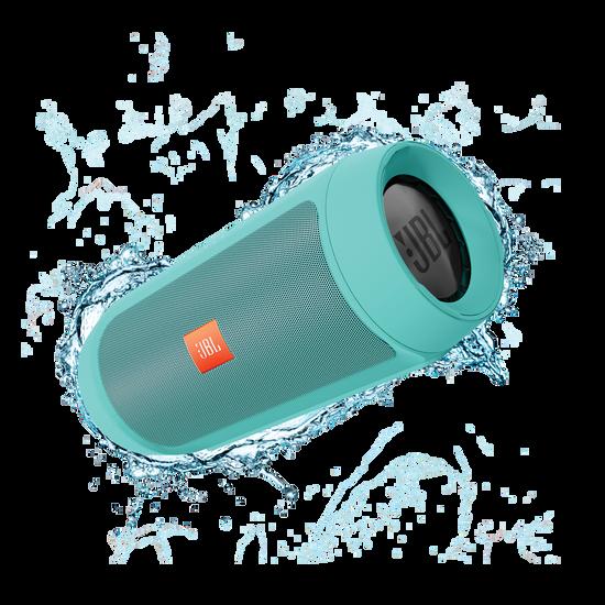 JBL Charge 2+ - Teal - Splashproof Bluetooth Speaker with Powerful Bass - Hero