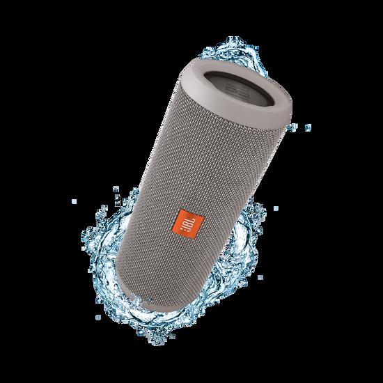 JBL Flip 3 - Grey - Splashproof portable Bluetooth speaker with powerful sound and speakerphone technology - Hero