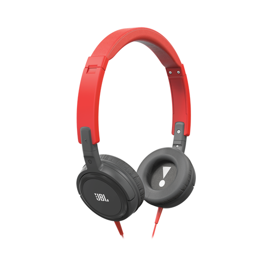 T300A - Red / Gold - On-ear headphones with a single button remote/mic that come in a variety of colors - Hero