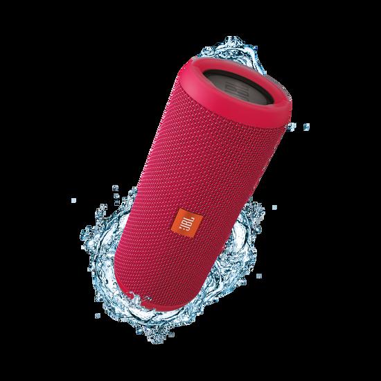 JBL Flip 3 - Pink - Splashproof portable Bluetooth speaker with powerful sound and speakerphone technology - Hero