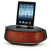 JBL OnBeat Rumble - Orange / Black - Powerful, Bluetooth-enabled loudspeaker dock for iPhone 5 and iPad mini - Hero