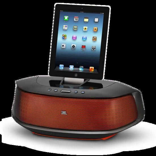 JBL OnBeat Rumble - Orange / Black - Powerful, Bluetooth-enabled loudspeaker dock for iPhone 5 and iPad mini - Hero