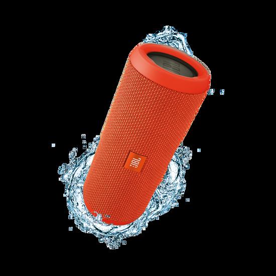 JBL Flip 3 - Orange - Splashproof portable Bluetooth speaker with powerful sound and speakerphone technology - Hero
