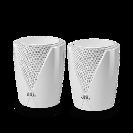 Jembe - White - Plug-and-Play 2.0 Computer Speakers - Hero