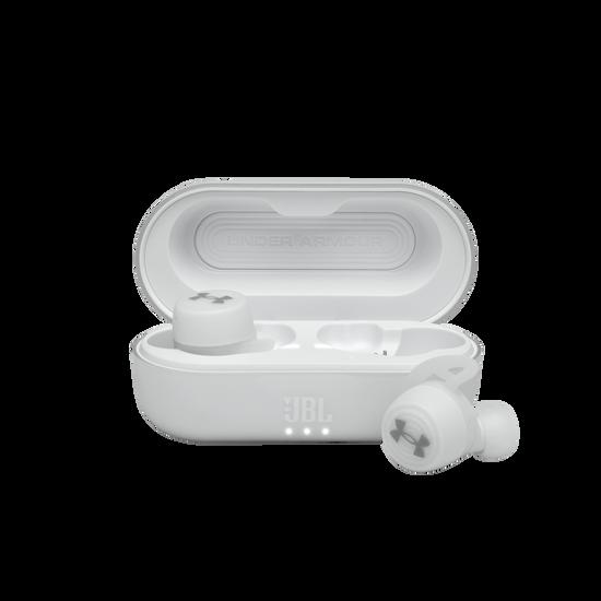 UA True Wireless Streak - White - Ultra-compact In-Ear Sport Headphones - Hero