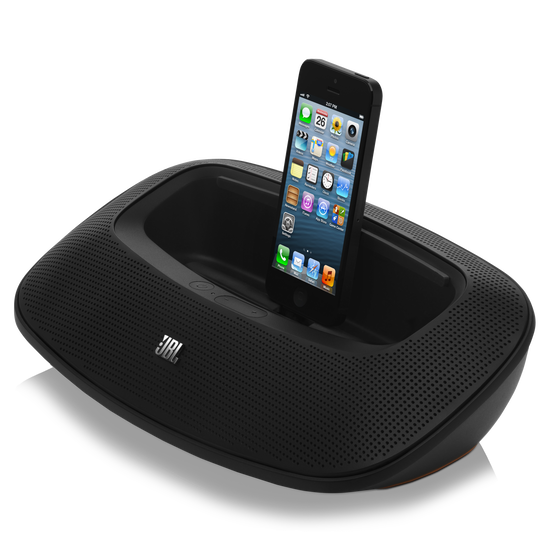 JBL OnBeat Mini - Black - Portable Speaker Dock for iPhone 5/iPad Mini - Hero