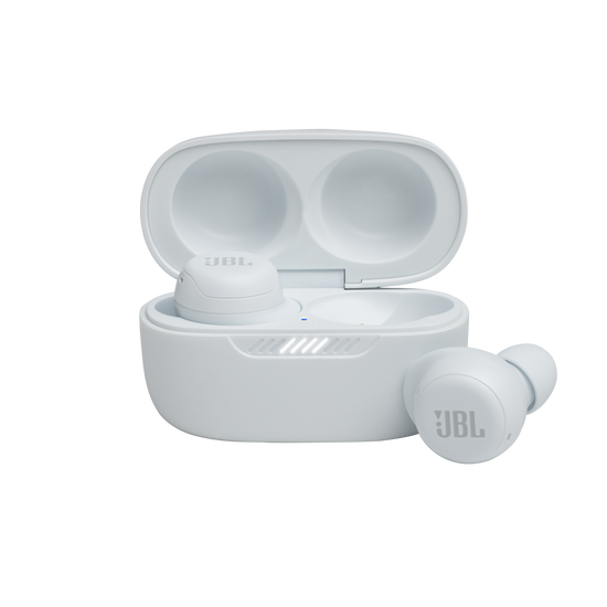 JBL Live Free NC+ TWS - White - True wireless in-ear NC headphones - Hero